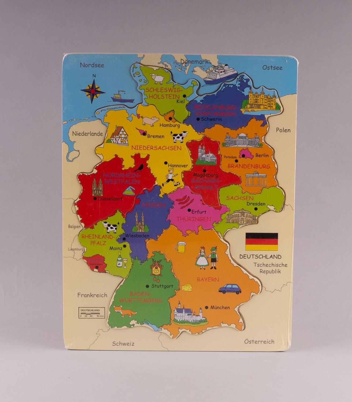 """GOKI Holz-Einlegepuzzle """"Deutschlandkarte"""""""
