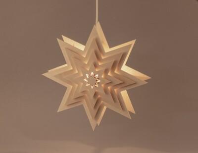 Fensterbild Stern beleuchtet
