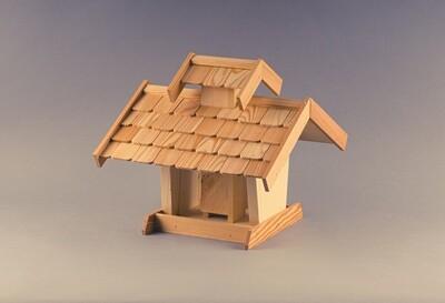 Vogelhaus mit Dachschindeln - Lärche