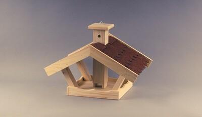 Vogelhaus mit roter Dachpappe - zum Aufhängen