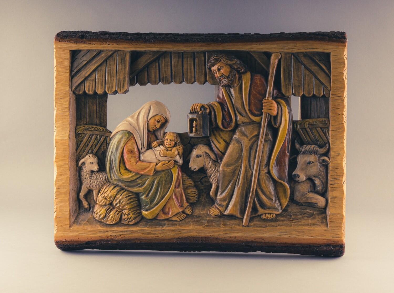 "Wandbild Relief  ""Christi Geburt"""