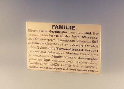 """Holzschilder """"Familie"""" und """"Leben"""""""