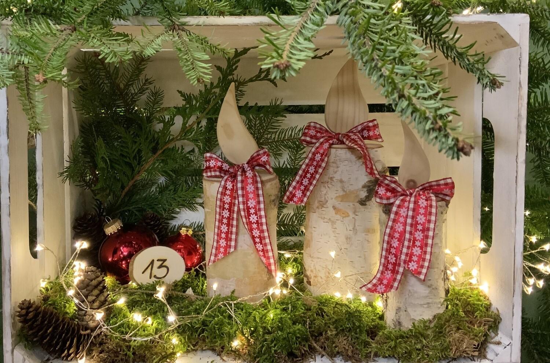 13. Dezember Kerzen aus Holz