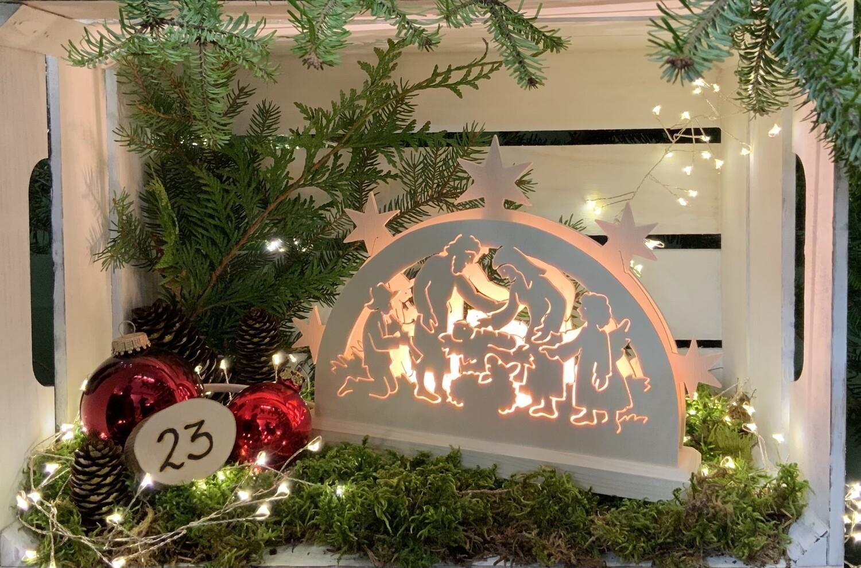 "23. Dezember Lichterbogen ""Krippenmotiv"""