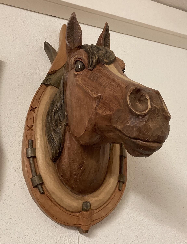 "Wandbild ""Pferdekopf"" coloriert"