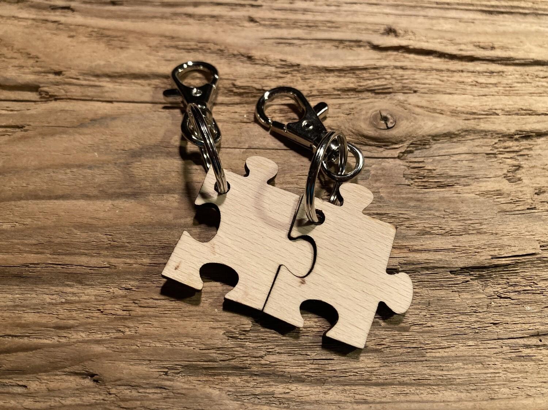 """Schlüsselanhänger """"Puzzle-Teil"""" mit Karabiner, Stückpreis"""