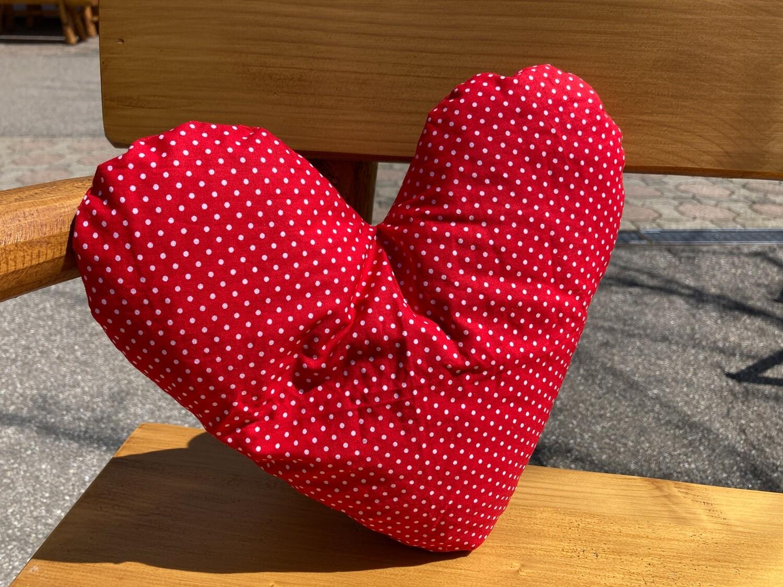 Zirbenkissen Herzform