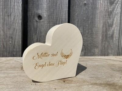 """Herz klassisch """"Mütter sind Engel ohne Flügel"""""""
