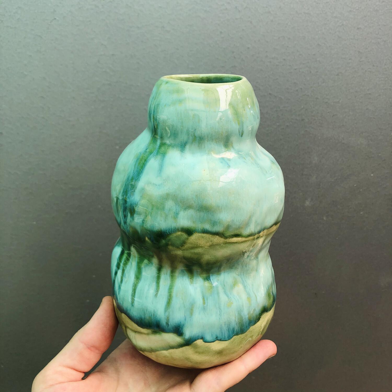 Vază Verde Cristal