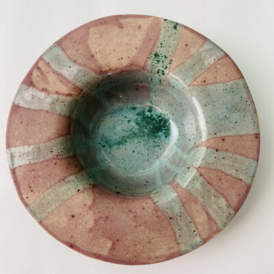 Farfurie paste Violet Mat Cu Verde