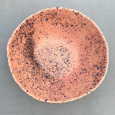 Bol salată Roz cu picățele Albastre