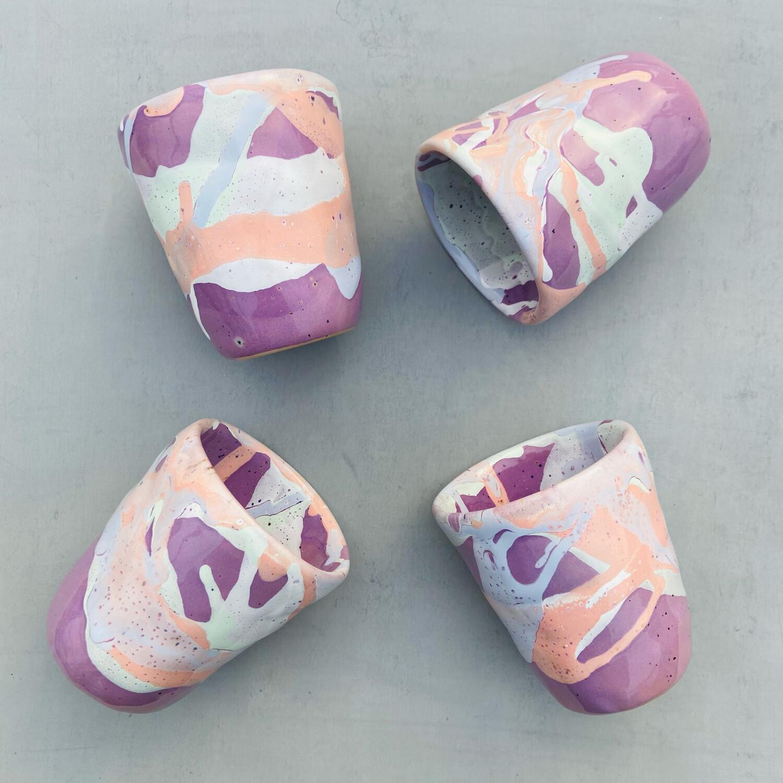 Set 4 Pahare Roz-violet