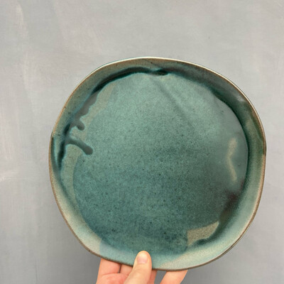 Farfurie medie Turquoise Mat