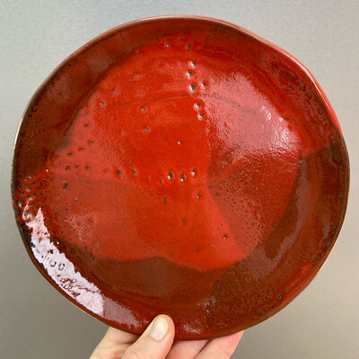 Farfurie desert Roșie