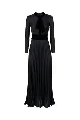 Платье с галстуком длинный рукав
