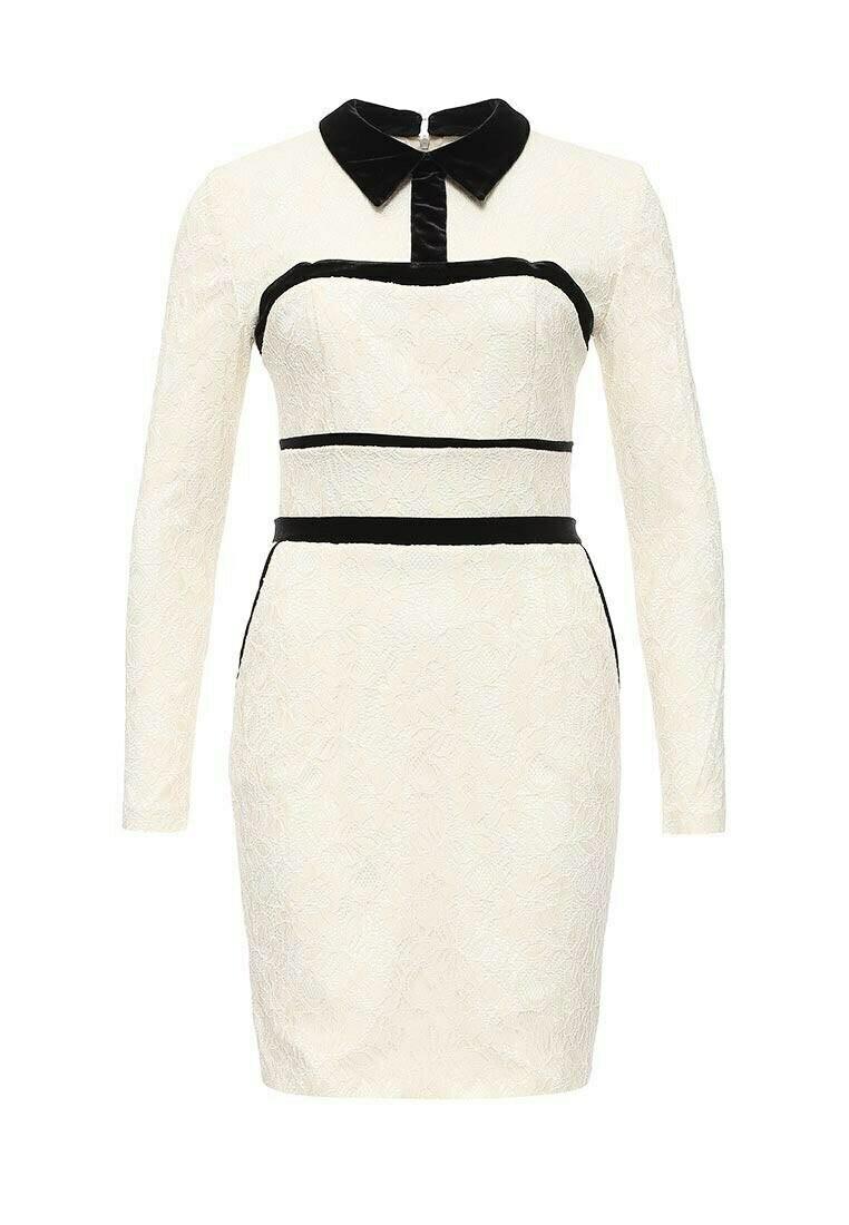 Белое кружевное платье с бархатом