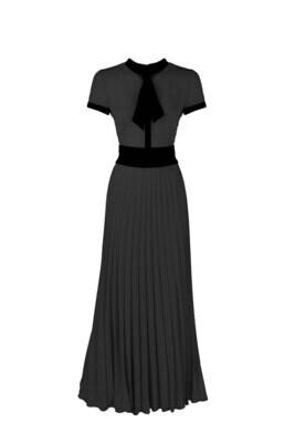 Платье с галстуком короткий рукав