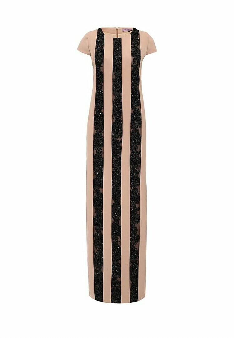 Коллекционное платье с вышивкой из черного бисера (haute couture)