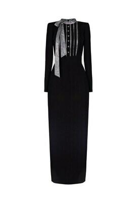 Платье с пуговицами  Swarovski