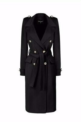 """Пальто """"Одри"""" черное"""