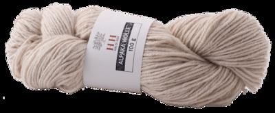 BIO Alpaka Wolle weiss (100g)