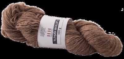 BIO Alpaka Wolle hell-braun (100g)