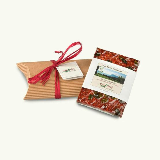 BIO Tafel mit Kissenverpackung (Geschenkbox)