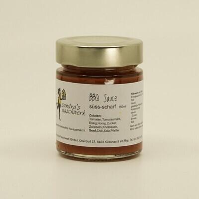 BBQ-Sauce süss/scharf – gluten- und laktosefrei (150g / 250g)
