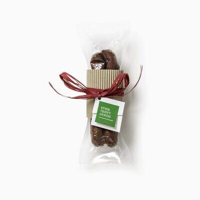 BIO Nusswurst mit Kartonbanderole (Geschenkbox)