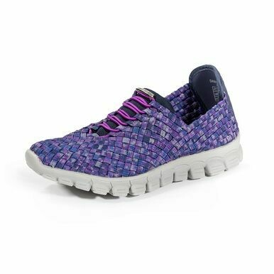 Zee Alexis-Danielle-Navy/Plum Woven Sneakers