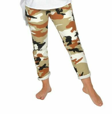 Catherine Lillywhite's-Brown Camouflauge Jean
