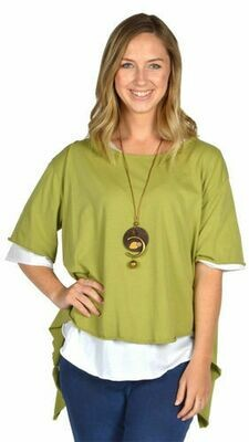 Catherine Lillywhite's-Light Green Open Back Tunic with Necklace