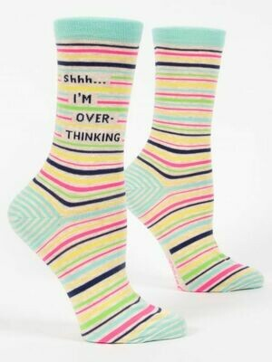 Blue Q Crew Socks - Shhh I'm Overthinking