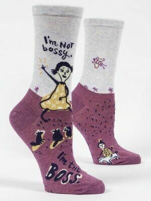 Blue Q Crew Socks - I'm Not Bossy. I'm the Boss.