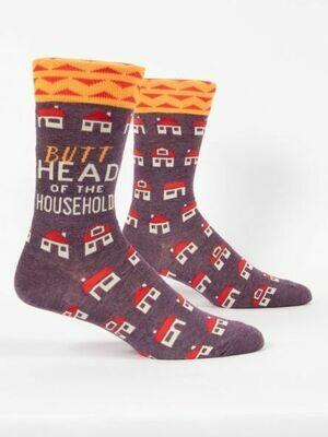 Blue Q Mens Socks - Butthead of the Household