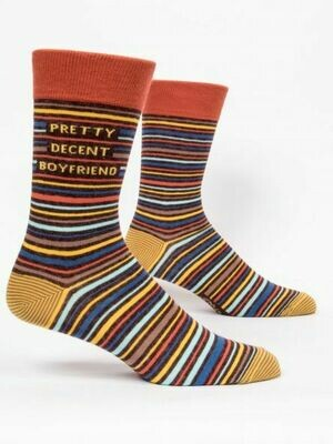Blue Q Mens Socks - Pretty Decent Boyfriend