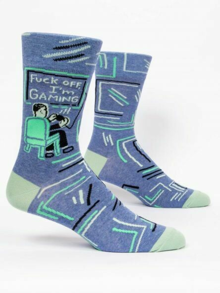 Blue Q Mens Socks - Fuck Off I'm Gaming