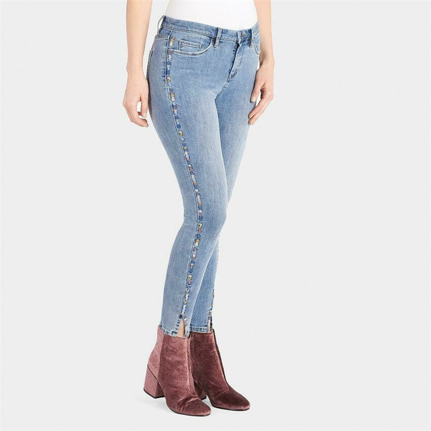 Coco & Carmen-Colorful Dashes Jeans - L/XL