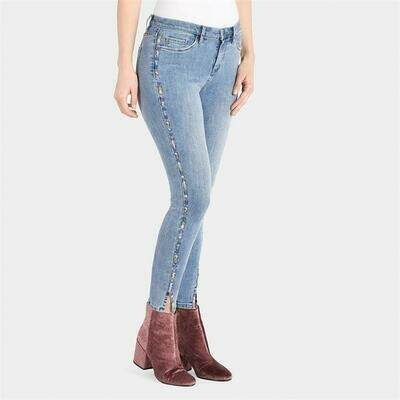 Coco & Carmen-Colorful Dashes Jeans - L/XL