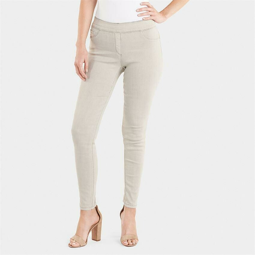 Coco & Carmen-OMG Colored Skinny Jeans-Stone - XL