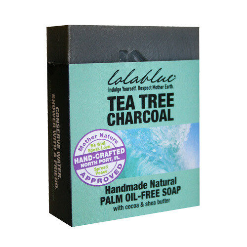 LolaBlue-  Soap  Tea Tree Charcoal