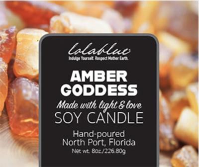 Lolablue-Candle-Amber Goddess
