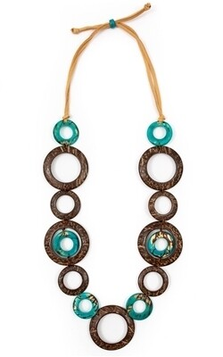 Tagua-Blanca Necklace-Turquoise