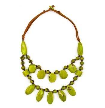 Tagua-Gloria Necklace-Lime