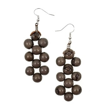 Tagua_Helen Earrings Charcoal Gray-IE475-CO