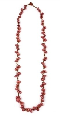 Tagua-Karin Necklace-Rose