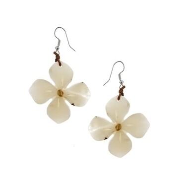Tagua_Hibscus Earrings Ivory-IE545-IV