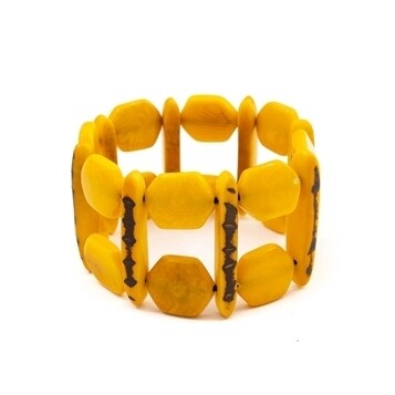 Tagua-Loli Bracelet-Yellow