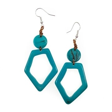 Tagua-Mell Earrings-Turquoise