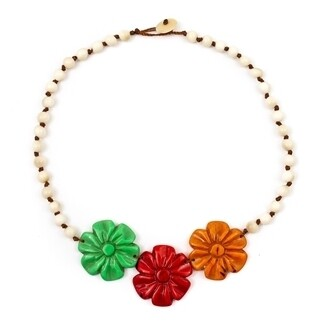 Tagua-Rosy Necklace-Multi
